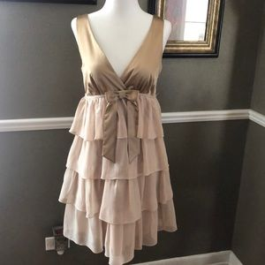 Satin Chiffon Cocktail Dress